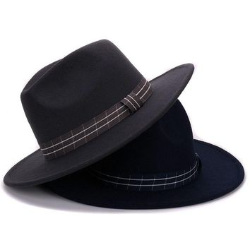 Wool Pure Cashmere Shaped Solid Hat winter Felt gambler Hat for men and women