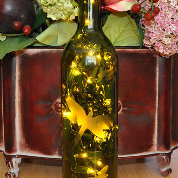 Dragonfly Wine Bottle Lights