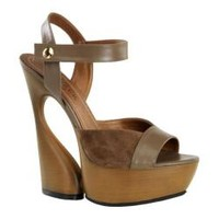 Women's Pleaser Day & Night Swan 612 Brown Kid Leather/Suede