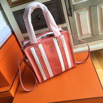 balenciaga bazar shopper xs orange x white 2
