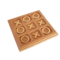 Vintage Brass & Wood Tic Tac Toe Game/ Vintage Board Game/ Brass Game/ Coffee Table Game/ Brass Game Pieces/ Wood Oak Board/ Table Decor