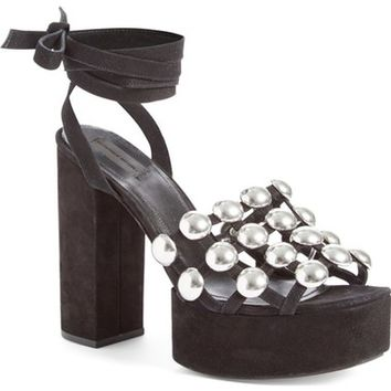 Alexander Wang 'Alys' Studded Lace-Up Sandal (Women) | Nordstrom