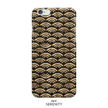 Waves iPhone Case, iPhone 6, iPhone 6 Plus, iPhone 5/5s, Waves Samsung Galaxy s5, s4, s3, Black, NewSerenityStudio