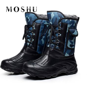 Designer Men Winter Military Boots Male Snow Ankle Boots Warm Waterproof Fur Tactical Boots Outdoor Shoes Chaussure Homme