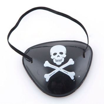 Black Pirate Eye Patches Halloween Party Skull Cross-bone Favor Costume Kids = 1929656452
