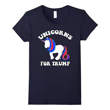 Unicorns For Trump Funny Political Tee Shirt