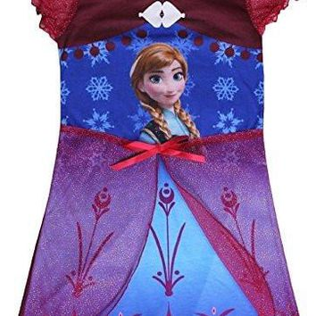 Disney Frozen Anna Girl's Nightgown Dress