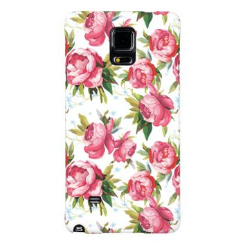 Stylish Vintage Pink Floral Pattern Galaxy Note 4 Case