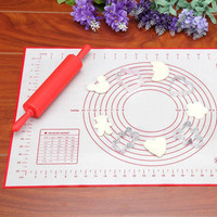 60*40cm Silicone Fiberglass Baking Sheet Rolling Dough Pastry Cakes Bakeware Liner Pad Mat Oven Pasta Cooking Tools