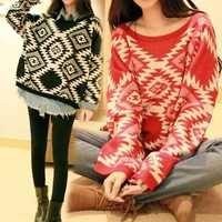Tribal Oversized Sweater from Miss Mag-iba Boutique
