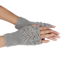 Newly Design Women's Warm Winter Brief Paragraph Knitting Hollow Half Fingerless Gloves 160114