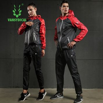 Lovers Fast Sweating Sports Suits Women Men Gym Clothes Yoga Running Jacket Pants Set Lose Weight Slimming Workout Jogging Suits