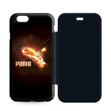Puma Red Logo Leather Wallet Flip Case iPhone 6 | 6S
