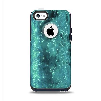 The Trendy Green Space Surface Apple iPhone 5c Otterbox Commuter Case Skin Set