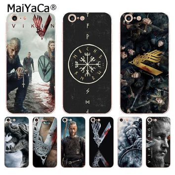 MaiYaCa Vikings TV Series Luxury Hybrid phone accessories case for iPhone 8 7 6 6S Plus X 10 5 5S SE 5C case Coque cover