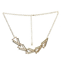 Sideways Triangle Statment Necklace - WetSeal