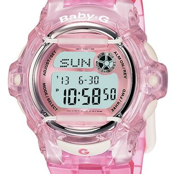 Women's Baby-G Jelly Watch, 46mm - Pink