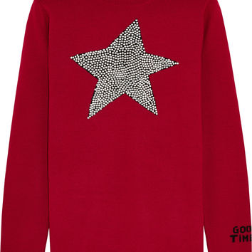 Bella Freud - Star Studded intarsia merino wool sweater