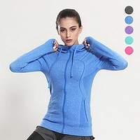 Women's Yoga Shirts Long Sleeve Tight Yoga Tops Sportswear Fitness Quick Dry Breathable Tracksuit Women S-L