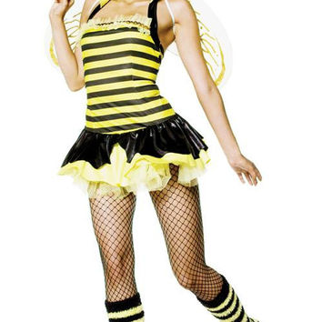 Queen Bumble Bee Sexy 4 Pc S-m