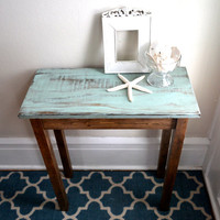 The Jane - Turquoise Pine Side Table