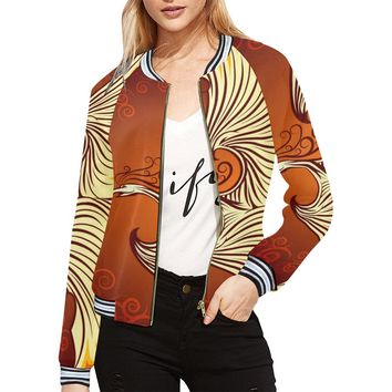 Phoenix Bird Women Bomber Jacket