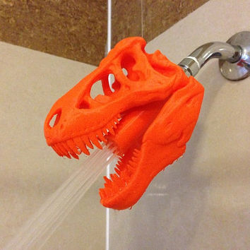 3D Printed T-Rex Shower Head (Original by designer)