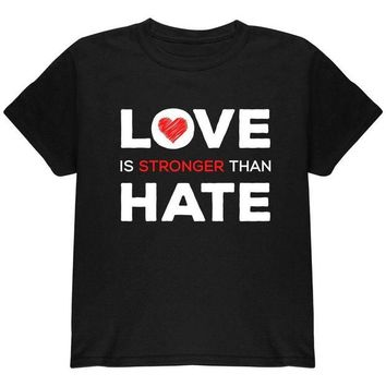 ONETOW Activist Love is Stronger Than Hate World Peace Equality Youth T Shirt