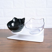 Non-slip Cat Bowls Double Bowls Choose Style and Color with Raised Stand Pet Food and Water Bowls For Cats Dogs Feeders Cat Bowl Pet Supplies FREE SHIPPING