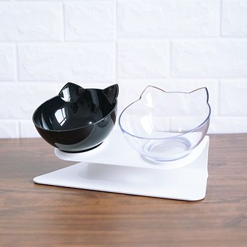 Non-slip Cat Bowls Double Bowls With Raised Stand Pet Food And Water Bowls For Cats Dogs Feeders Cat Bowl Pet Supplies