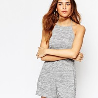ASOS Halter Playsuit in Space Dye