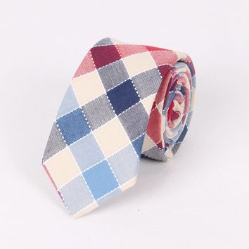 Men's Ties Plaid Print | wedding neck tie- printed tie