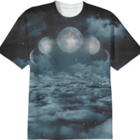 Uncertain. Alone. Cratered by imperfections. (Loyal Moon) Unisex T-Shirt created by soaringanchordesigns | Print All Over Me