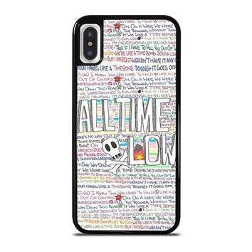 ALL TIME LOW WRITTING iPhone X Case Cover