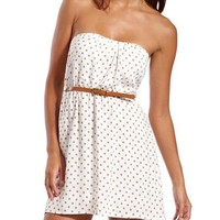 Belted Polka Dot Challis Dress: Charlotte Russe