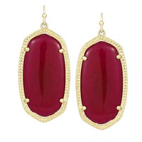 Elle Earrings in Fuchsia Jade - Kendra Scott Jewelry