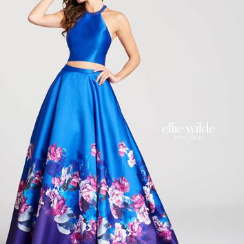 Ellie Wilde EW118001- Royal Blue/Multi