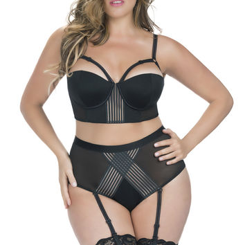 Nicola Plus Size Longline Bra and High Waist Panty