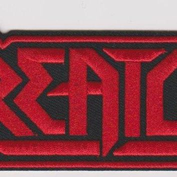 Kreator Iron-On Patch Red Letters Logo