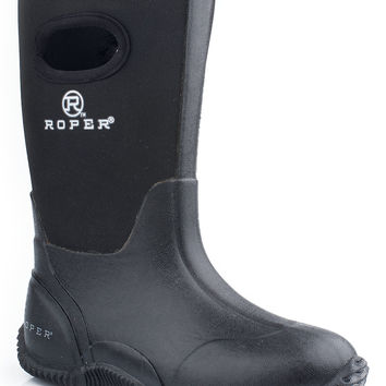 Roper Youth Boot Western Rubber Syn Barn Boot Boots 10 Boot Barn W Pull Holes On Shaft