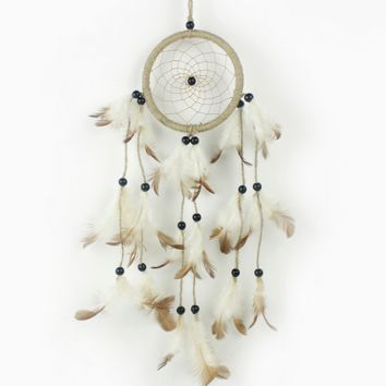 Raw Hemp Fumigation Feathers Dreamcatcher Original Handmade Wall Hanging
