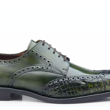 Urbano Alligator And Calf Skin Wingtip or Spectators