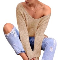 Women New Fashion  Autumn Knitting Long Sleeve Blouse Shirt Wool