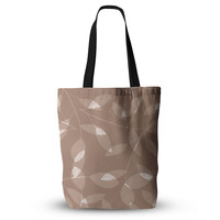 "Alison Coxon ""Leaf Tawny"" Brown Beige  Everything Tote Bag"