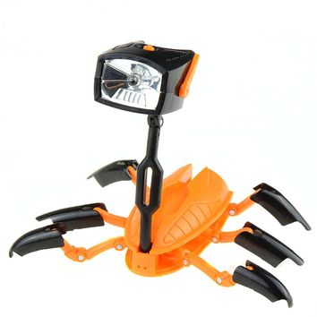 1 PC New Hot Selling Deformation LED Robot Toy Multifunction Light Flashlight Creative Energy Lamp T0381 P0.31