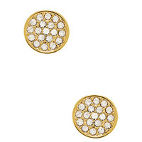 Kate Spade Dainty Sparklers Pave Disc Studs Clear ONE