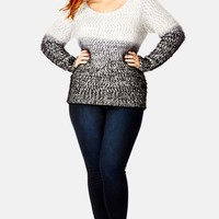 Plus Size Women's City Chic Fluffy Ombre