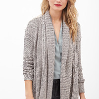 LOVE 21 Metallic Open-Knit Cardigan