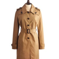 Dark Chino Maycroft Womens Trench Coat  | Joules UK
