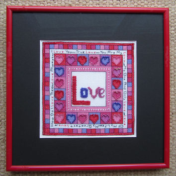 LOVE - Cross stitch and beadwork digital file.